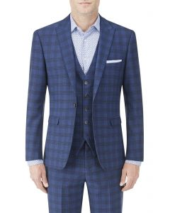 Felix Suit Slim Jacket Blue Check