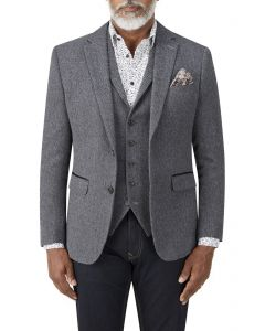 Gisburn Herringbone Jacket Charcoal