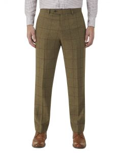 Aviemore Suit Trouser Olive Check