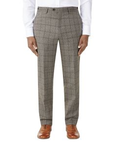 Pershore Suit Trouser Brown Check