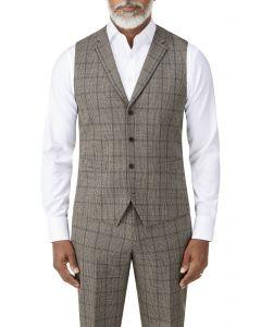 Pershore Suit Waistcoat Brown Check
