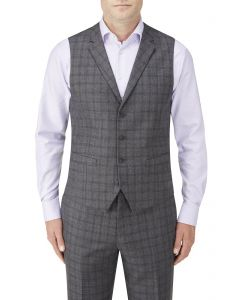 Agden Suit Waistcoat Grey Check