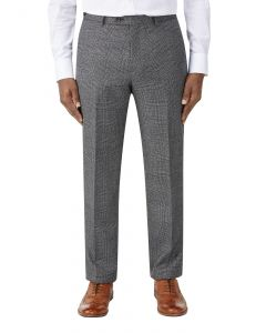 Burnham Suit Trouser Charcoal Check