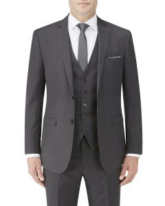 Nyborg Suit Jacket Charcoal Micro Check