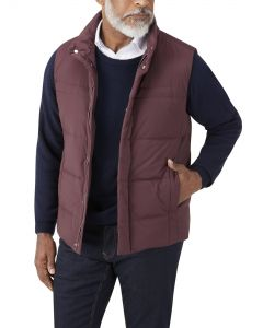 Mere Padded Gilet Wine