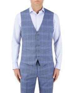 Kaye Check Suit Waistcoat