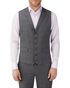 Witton Suit Waistcoat Grey Check