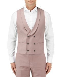 Sultano Suit DB Waistcoat Mink