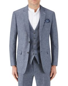 Lagasse Linen Blend Suit Jacket Navy