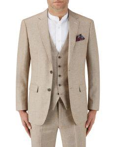 Lagasse Linen Blend Suit Jacket Stone