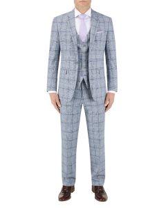 Stark Check Suit Grey / Blue