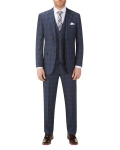 Minworth Check Suit Blue