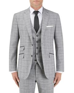 Keenan Suit Jacket Silver / Grey Check