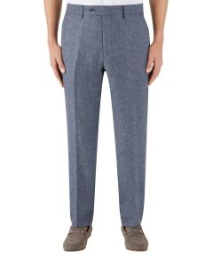 Lagasse Linen Blend Suit Trouser Navy