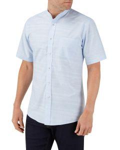 Blue Linen Look Casual Shirt