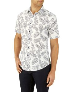 Pineapple Print Casual Shirt