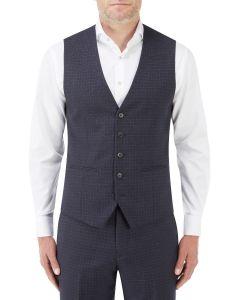 Mac Suit Waistcoat Navy / Grey Check