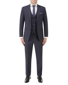 Mac Slim Suit Navy / Grey Check