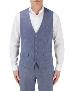 Jude Suit Waistcoat Blue Herringbone