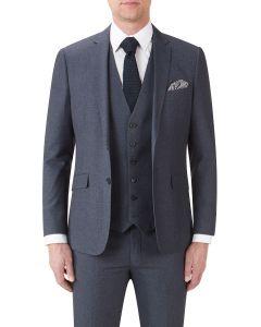 Harcourt Slim Suit Jacket Blue