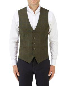 Hornby Waistcoat Green Check