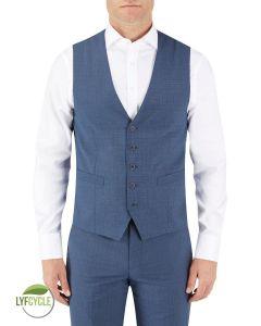 Morelli Suit Waistcoat Blue Check