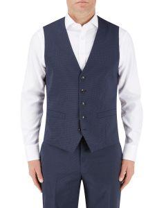 Persico Suit Waistcoat Navy Micro Check