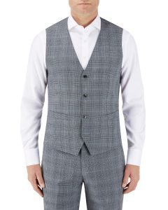 Bracali Suit Waistcoat Grey Check