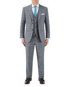 Bracali Suit Grey Check