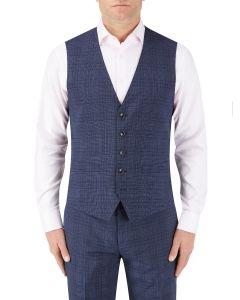 Torrente Check Suit Waistcoat Navy Check
