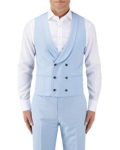 Sultano Suit DB Waistcoat Sky Blue
