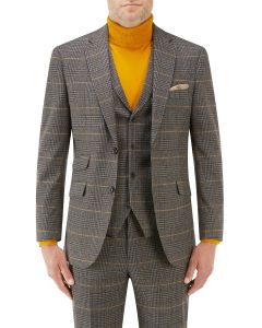 Leahy Suit Jacket Brown Check