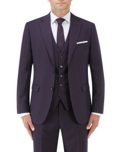 Mac Slim Suit Jacket Navy / Wine Check
