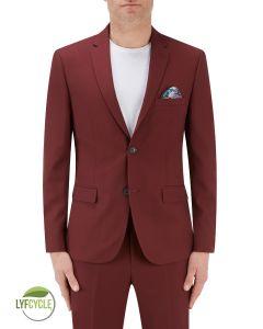 Sultano Suit Slim Jacket Brick Red