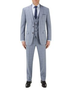 Silva Suit Ice Blue Check