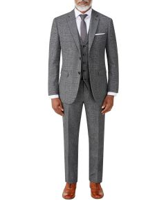 Burnham Suit Charcoal Check