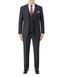 Hayling Suit Navy Check