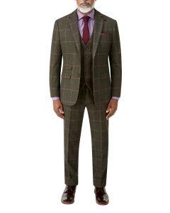 Morfe Suit Lovat Check
