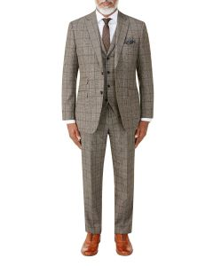 Pershore Suit Brown Check