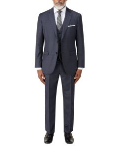 Irvine Suit Navy Check