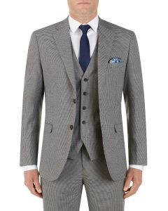Danko Suit Jacket Brown Navy Puppytooth