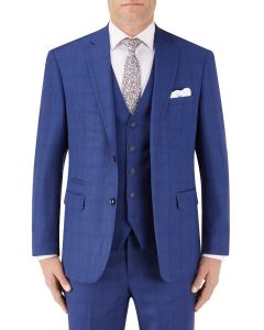 Aquino Suit Jacket Blue Check