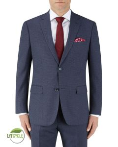 Gambino Suit Jacket Navy Birdseye