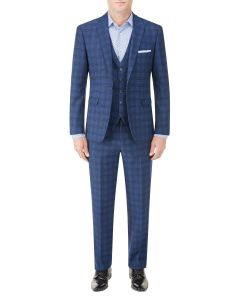 Felix Slim Suit Blue Check