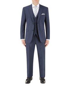 Persico Navy Micro Check Suit