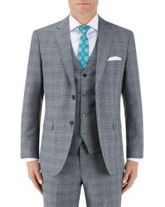 Bracali Suit Jacket Grey Check