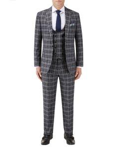 Kiefer Slim Suit Black / Grey Check