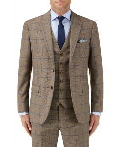 Welburn Suit Jacket Brown Check