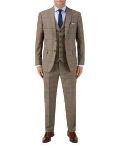 Welburn Suit Brown Check