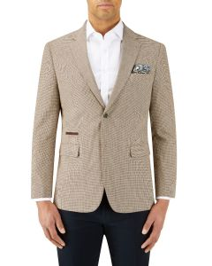 Tonelli Cotton Linen Blend Jacket Stone